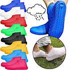 Багаторазові силіконові бахіли для захисту взуття від дощу і бруду Waterproof silicone shoe cover S-M-L ОПТ, фото 4