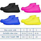 Многоразовые силиконовые бахилы для защиты обуви от дождя и грязи Waterproof silicone shoe cover S-M-L ОПТ, фото 5