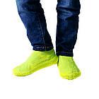 Многоразовые силиконовые бахилы для защиты обуви от дождя и грязи Waterproof silicone shoe cover S-M-L ОПТ, фото 6