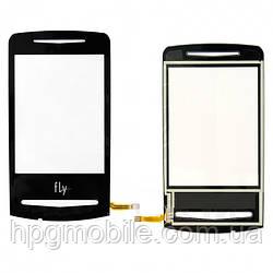 Сенсорный экран для Fly E130, черный, оригинал