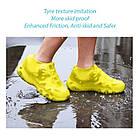 Многоразовые силиконовые бахилы для защиты обуви от дождя и грязи Waterproof silicone shoe cover S-M-L ОПТ, фото 9