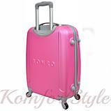 Дорожный чемодан на колесах Bonro Smile маленький розовый (10052016), фото 2