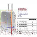Дорожный чемодан на колесах Bonro Smile маленький розовый (10052016), фото 4