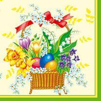 Серветки столові Luxy тришарові 33х33 см 20 шт. Великоднева весна  (4820164961926)