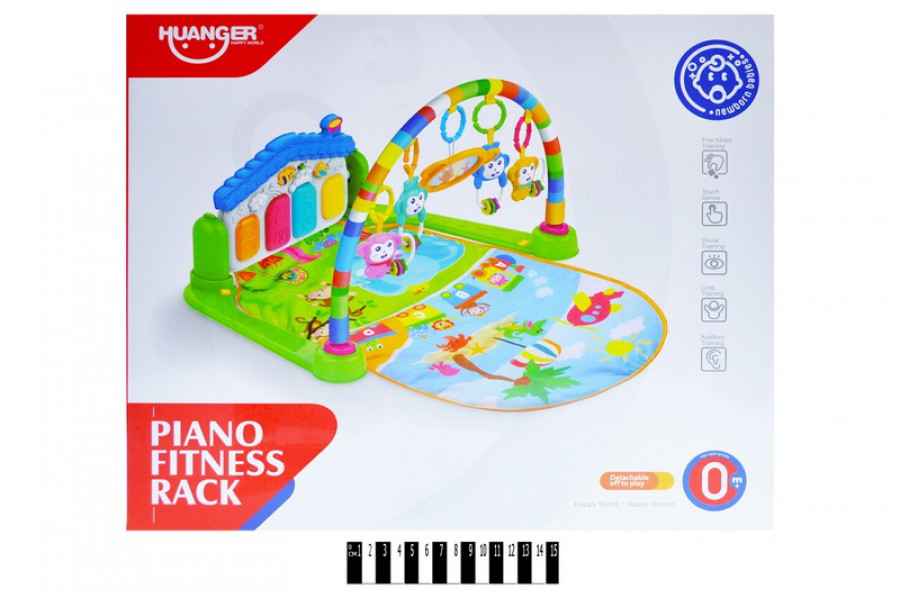 Дитячий розвиваючий килимок з дугами піаніно для ніжок HE0606, дитячий килимок