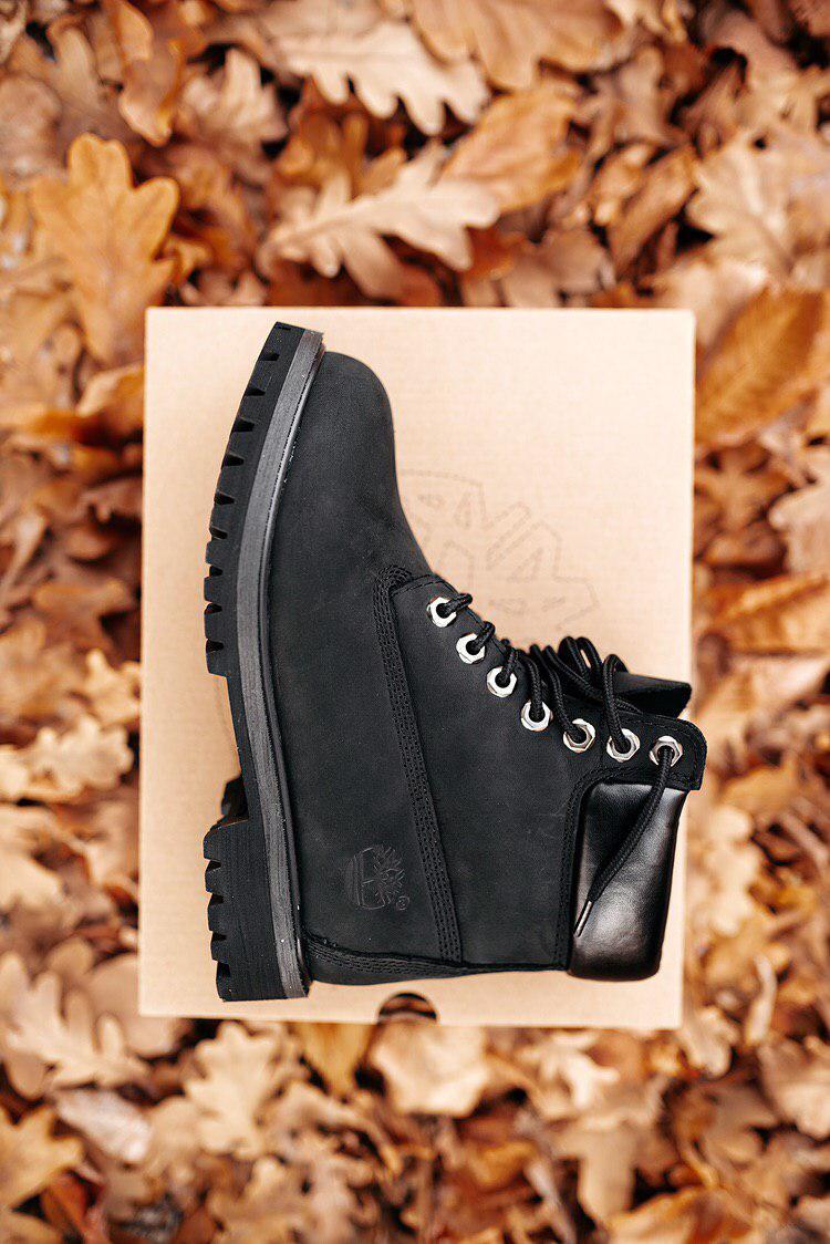 🔥 Ботинки женские Timberland 6-Inch Boots Black Termo зимние теплые