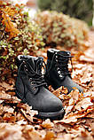 🔥 Ботинки женские Timberland 6-Inch Boots Black Termo зимние теплые, фото 3