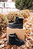 🔥 Ботинки женские Timberland 6-Inch Boots Black Termo зимние теплые, фото 6
