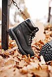 🔥 Ботинки женские Timberland 6-Inch Boots Black Termo зимние теплые, фото 7