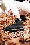 🔥 Ботинки женские Timberland 6-Inch Boots Black Termo зимние теплые, фото 8