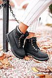 🔥 Ботинки женские Timberland 6-Inch Boots Black Termo зимние теплые, фото 9