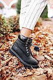🔥 Ботинки женские Timberland 6-Inch Boots Black Termo зимние теплые, фото 10