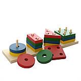 Деревянная игрушка Геометрика MD 0715, детская игрушка, подарок для ребенка, фото 3