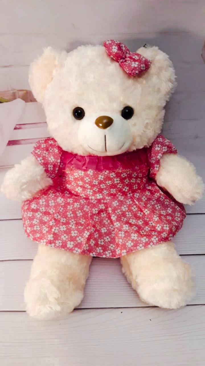 М'яка іграшка Ведмедик-дівчинка 45см