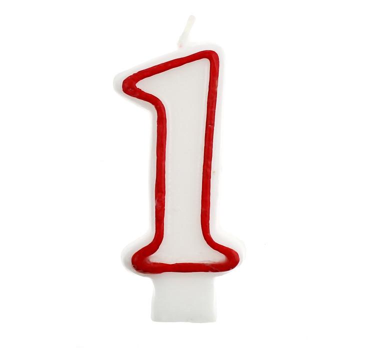 Свічка цифра 1