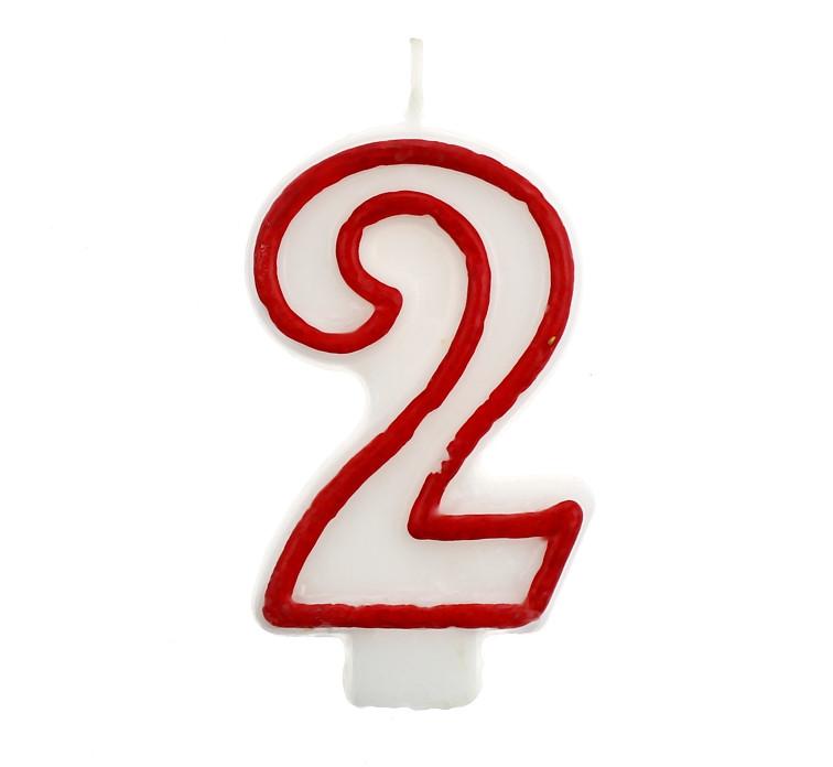 Свічка цифра 2