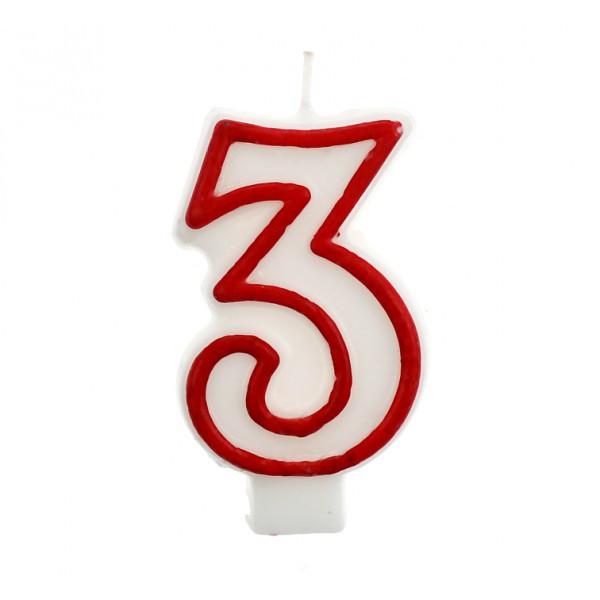 Свічка цифра 3