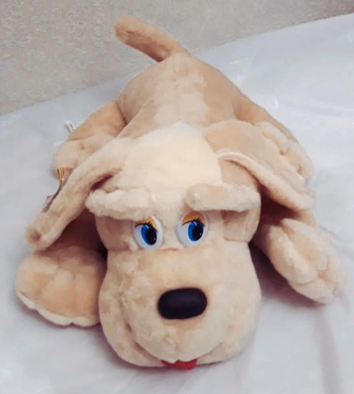 Мягкая игрушка собачка Пуфик 45см