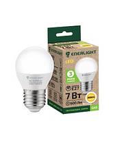 Лампа світлодіодна сфера Enerlight G45 7Вт 3000K E27