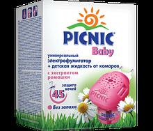 """Электрофумигаторы """"Picnic Baby"""" + жидкость от комаров 30 мл (45 ночей) код 118"""