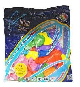 Надувні кульки дитячі шарік А-70 100 шт