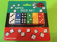 Набор больших цветных игральных кубиков, фото 1