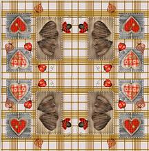 Серветки столові Luxy тришарові 33х33 см 20 шт. Різблені серця  (4820164967157)