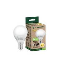 Світлодіодна лампочка сфера Enerlight P45 9Вт 3000K E14