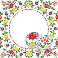 Серветки столові La Fleur двошарові 33х33 см 20 шт. Яйця українські  (4820164967430)