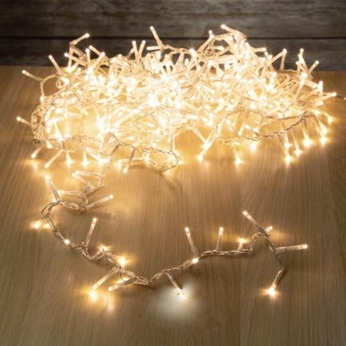 Гирлянда нить светодиодная 500 LED, 35 метров, белый, золотистый