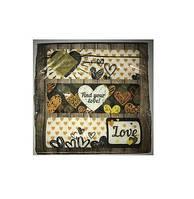Серветки столові Luxy тришарові 33х33 см 20 шт. Любов у повітрі  (4820164969847)