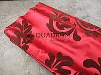 Римская штора дверная Mardom, фактурная ткань Бордо 90х220 см