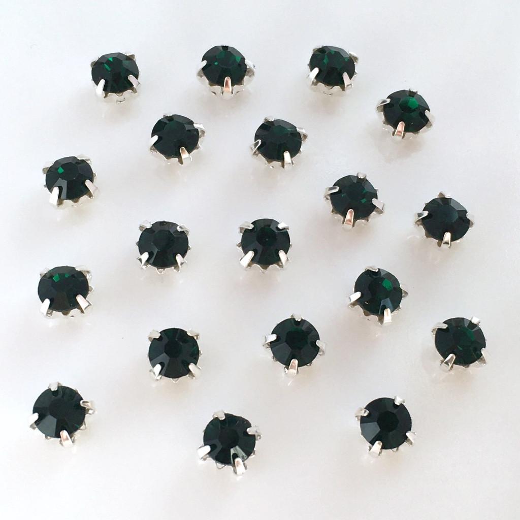 Шатоны 5 мм в цапах. Темно-зеленый