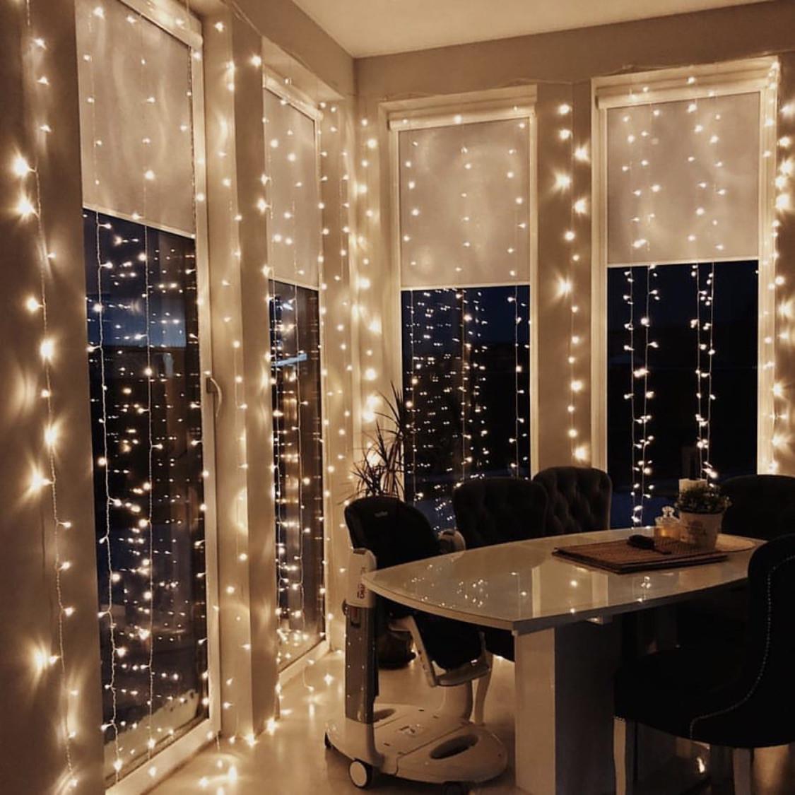 Гирлянда Штора 3м х 3м 500 LED, 8 режимов + статический режим.