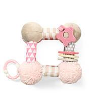 Розвиваючий м'який куб Рожевий BabyOno 899