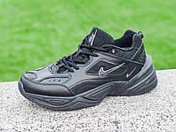 Кроссовки ботинки мужские Nike M2K Tekno Origin черные зимние на меху теплые