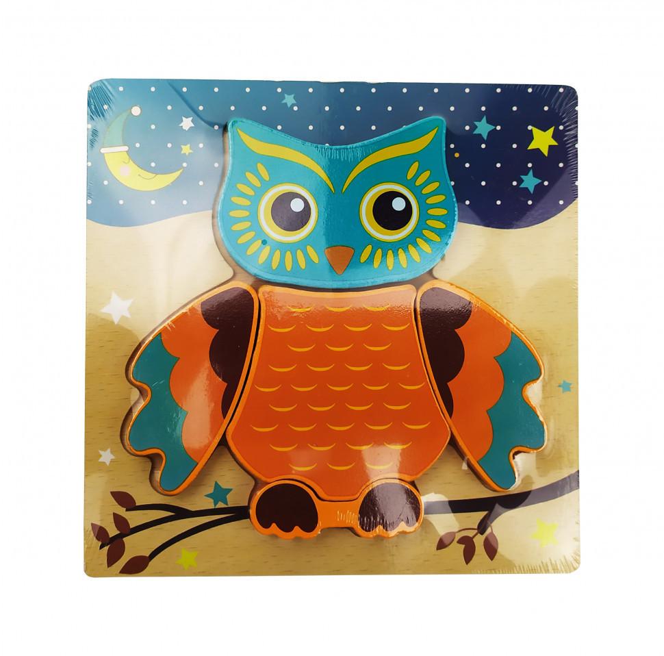 Деревянная игрушка Пазлы MD 0904 (Сова), детская игрушка, подарок для ребенка