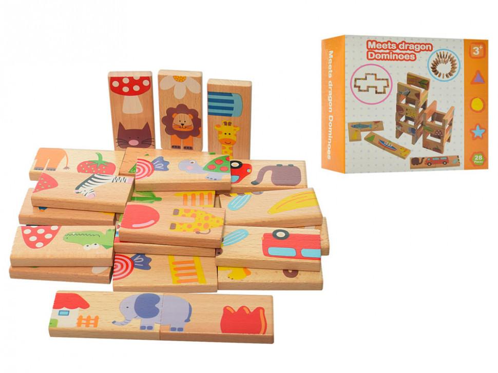 Деревянная игрушка Домино MD 2072 ( 2072-1), детская игрушка, подарок для ребенка