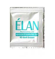 """Комплект фарба + окислювач для брів ELAN """"Dark Brown"""""""