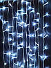 Новогодняя светодиодная гирлянда LED LIGHT 400 ламп 25 метров БЕЛАЯ на белом проводе, фото 3