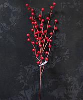 Ветка ягод красных пластик, фото 1