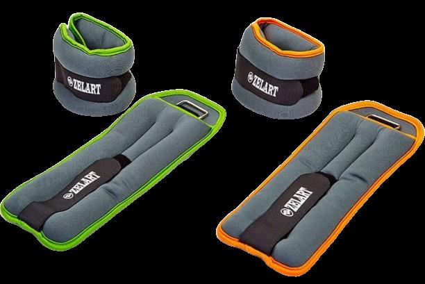 Фитнес утяжелители-манжеты для рук и ног ZELART 2x2 кг неопрен металлические.шарики