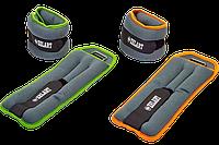 Фитнес утяжелители-манжеты для рук и ног ZELART 2x2 кг неопрен металлические.шарики, фото 1