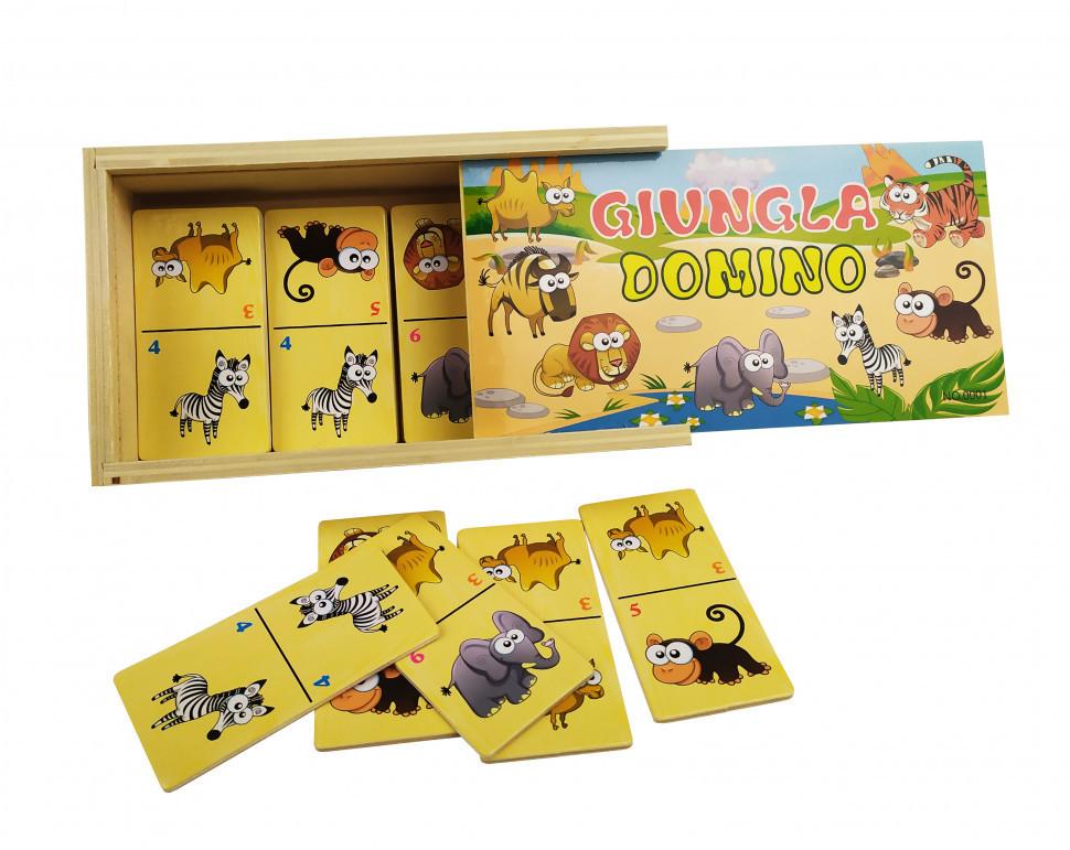 Деревянная игрушка Домино MD 2198 (Животные Африки), детская игрушка, подарок для ребенка