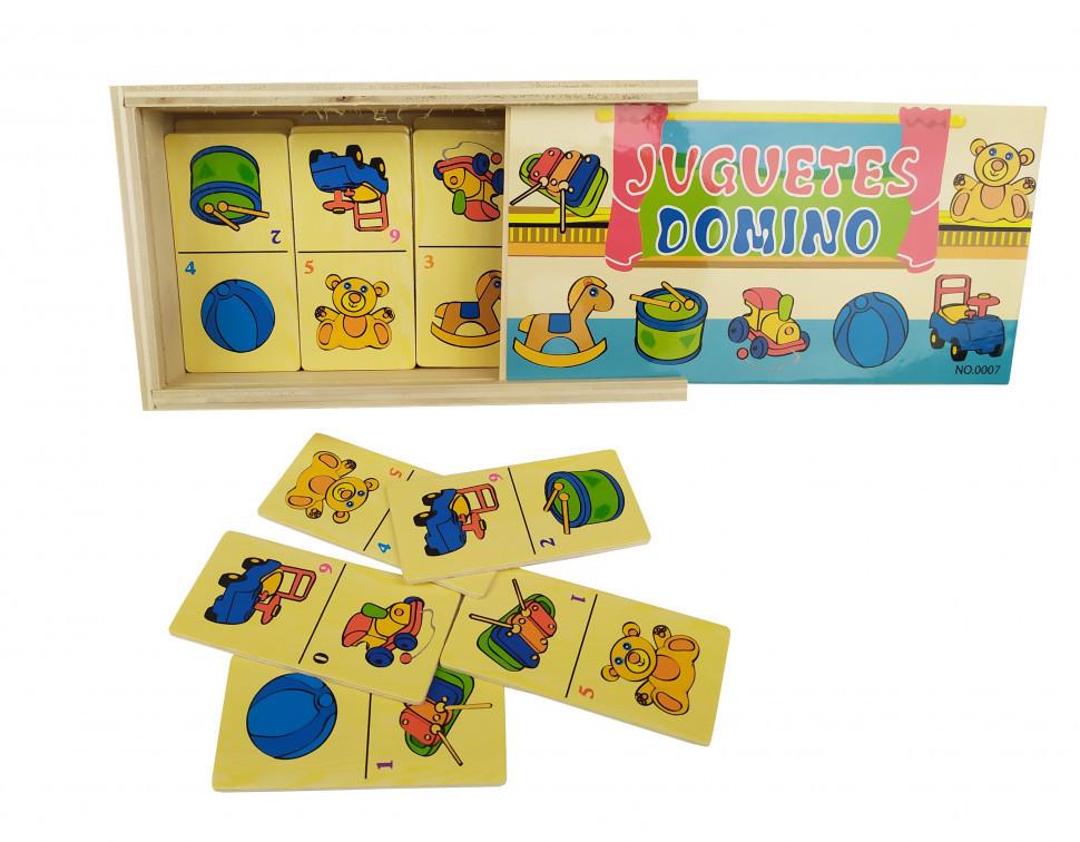 Деревянная игрушка Домино MD 2198 (Игрушки), детская игрушка, подарок для ребенка
