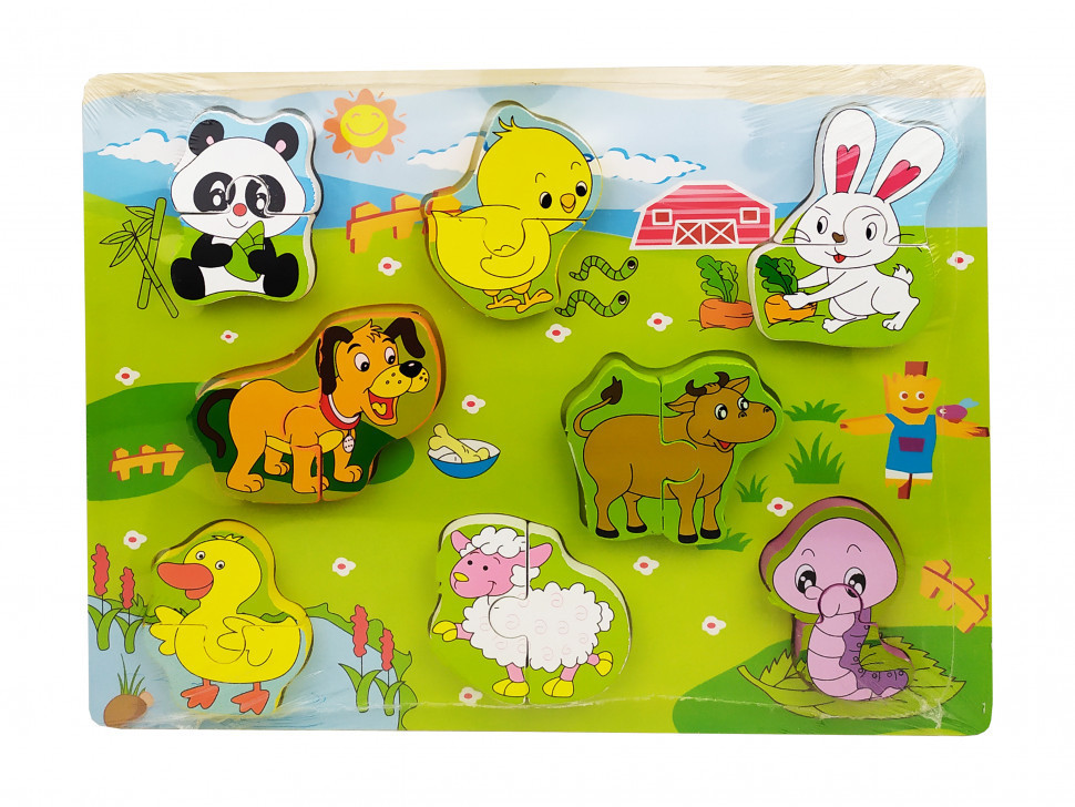 Деревянная игрушка Рамка-вкладыш MD 1213 (Ферма), детская игрушка, подарок для ребенка