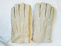 Перчатки мужские зимние кожаные меховые серые Debenhams (размер XL)