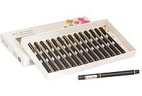 Ручка перьевая металлическая с закрытым пером черная, ООПТ. 3395, 706304