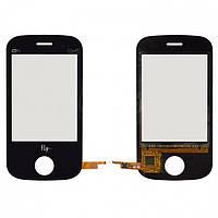 Touchscreen (сенсорный экран) для Fly E181, оригинал (черный)