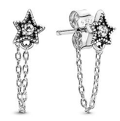 Серебряные серьги «Астрономические звезды»